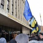 Виступ Павла Хазана на мітингу біля Дніпропетровськоі ОДА