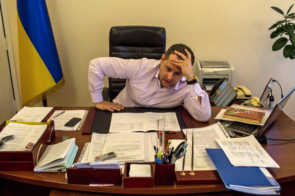 Boris Filatov, whose day job was in luxury shopping malls and other ventures, is now a deputy governor in Dnipropetrovsk, Ukraine. Credit Mauricio Lima for The New York Times